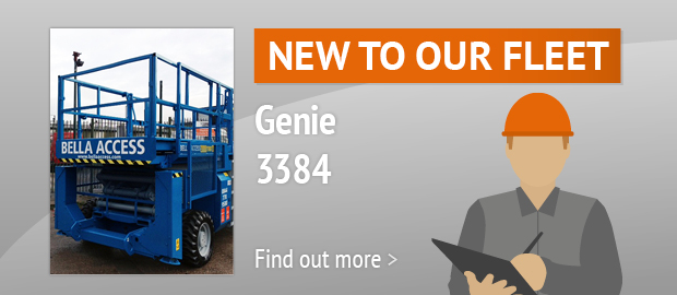 New To Our Fleet - Genie 3384 Diesel Scissor Lift